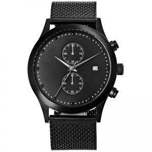 Fashion Mens Watches Top Brand Luxury Quartz Watch Men Casual Slim Mesh Steel Waterproof 5ATM Sport Watch Relogio Masculino