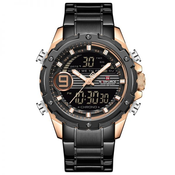 NAVIFORCE Brand Men Watches Fashion Sport Watch Mens Waterproof Quartz Chronograph Stainless Steel Male Clock Relogio Masculino