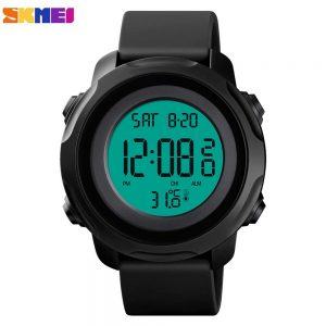 SKMEI Body Temperature Measurement Men Digital Sport Watches Chrono Calendar Electronic Clock 50M Waterproof Men's Watches 1682