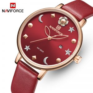 NAVIFORCE Women Watches Top Brand Luxury Fashion Female Quartz Wrist Watch Ladies Leather Waterproof Girl Clock Relogio Feminino