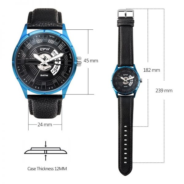 Mens Quartz Watches Top Brand Luxury Gold Blue Sport Male Clock Waterproof Wristwatch Relogio Masculino