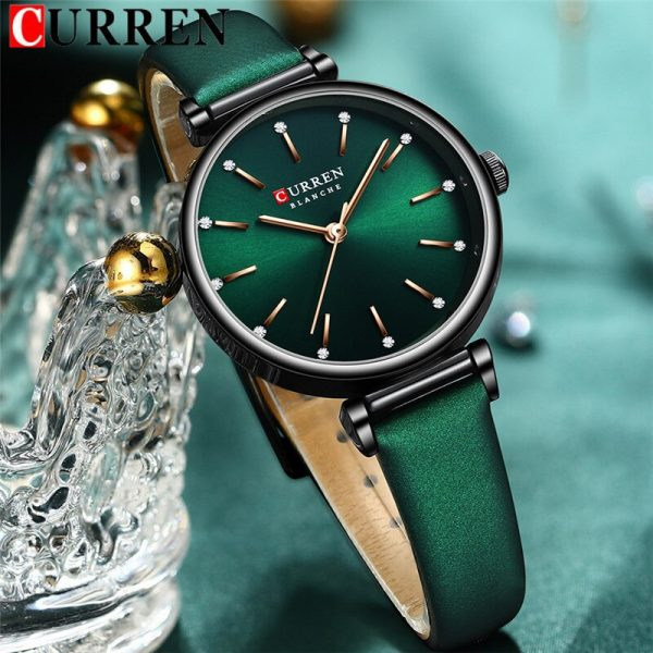 2020 CURREN Women Watch Top Brand Luxury Female Waterproof Clock Genuine Leather Bracelet Fashion Simple Ladies Wristwatch 9081