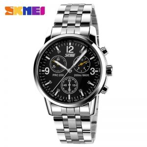 SKMEI Fashion Men Quartz Watch Full Steel Male Business Watches Waterproof Man Wristwatch Montre homme Relógio homem Clock 9070