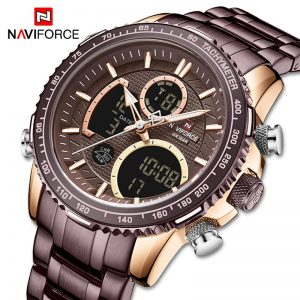 NAVIFORCE Men Watch Top Luxury Brand Mens Sport Digital Quartz Wristwatches Male LED Luminous Waterproof Clock Relogio Masculino