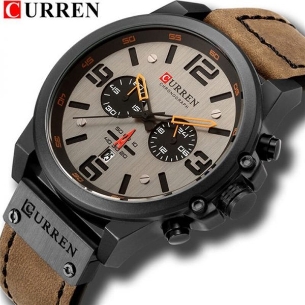 CURREN 8314 Fashion & Casual Leather Strap Quartz Men Watches Casual Date Business Male Wristwatches Military Clock Gift Homme