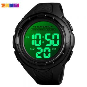 SKMEI Sport Men's Watches 5Bar Waterproof LED Display Digital Wristwatch 10 year Battery Chronograp Male Clock reloj hombre 1563
