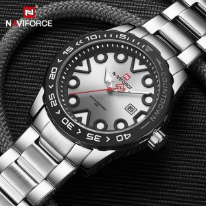 Luxury Brand NAVIFORCE Fashion Casual Watches for Men Sport Waterproof Quartz Wristwatch Male Steel Band Clock Relogio Masculino
