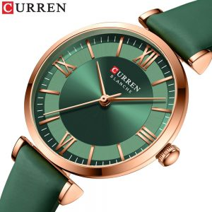 Luxury Brand CURREN 2021 New Watches For Women Fashion Quartz Leather Clock Elegant Dress Bracelet Wristwatch With Leather Strap