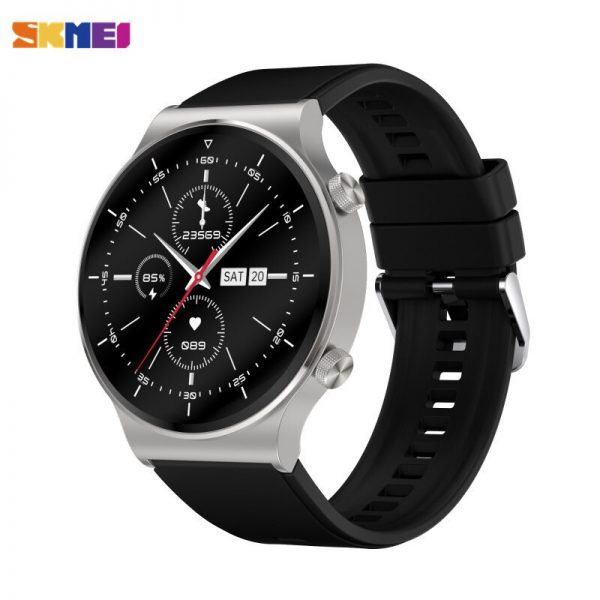 SKMEI Fashion Men Electronic Wristwatch Heart Rate Sleep Monitor Blood Pressure oxygen Test Watches Clock Relogio Masculino C12