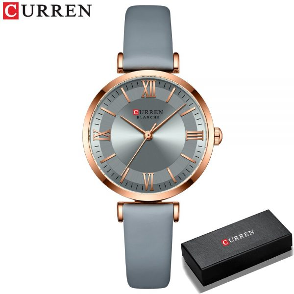 2021 CURREN New Watch for Women Simple Quartz Ladies Wristwatches with Leather Strap Elegance Wrist Charm Timeless Fashion Gift