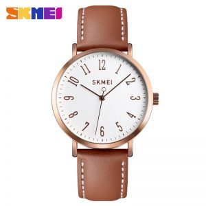 SKMEI Simple Women Quartz Watch Fashion Leather Strap Ladies Watch 3Bar Waterproof Female Wristwatches Montre femme 1463