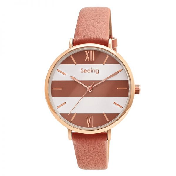 Dropshipping Japan Quartz Simple Women Fashion Watch White Leather Strap Ladies Wrist Watches Brand Waterproof Wristwatch