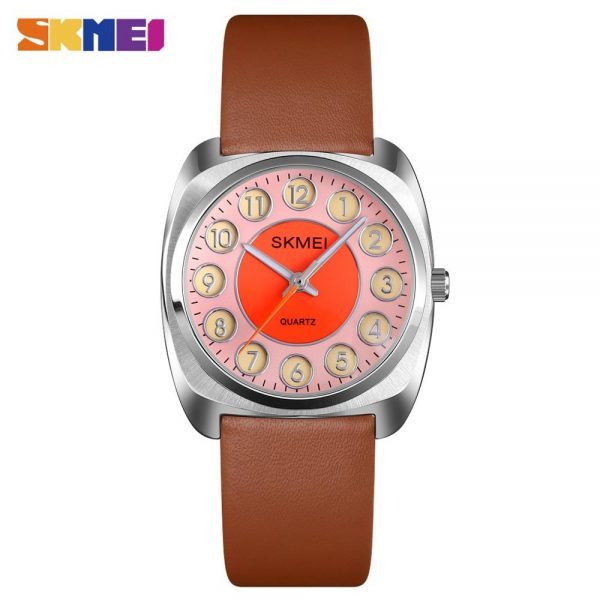 2020 SKMEI Luxury Top Brand Ladies Quartz Wrist Watches Fashion Leather Strap Female Clock Relogio Feminino Women's watch Q029