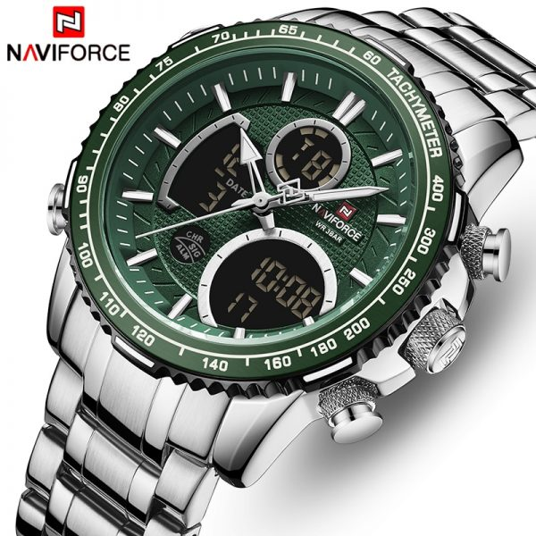 NAVIFORCE Luxury Brand Watch Men Fashion Sport Quartz Watches Mens Stainless Steel Waterproof Luminous Wrist Watches Clock Reloj