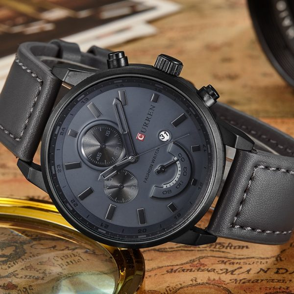 2020 CURREN Luxury Brand Sport Men Watch Quartz Wristwatch Leather Strap Fashion Casual Creative Clock For Man Relogio Masculino