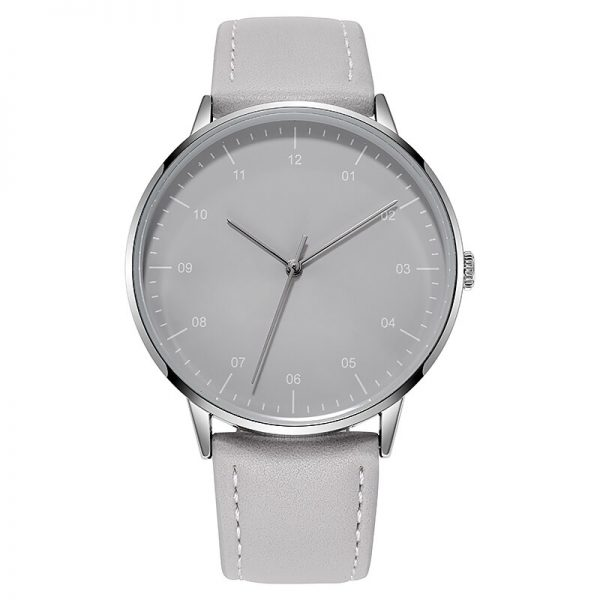 Men Casual Business Watch Japan Miyota Movement Leather WatchBand Water Resistant Simple Design Minimalism