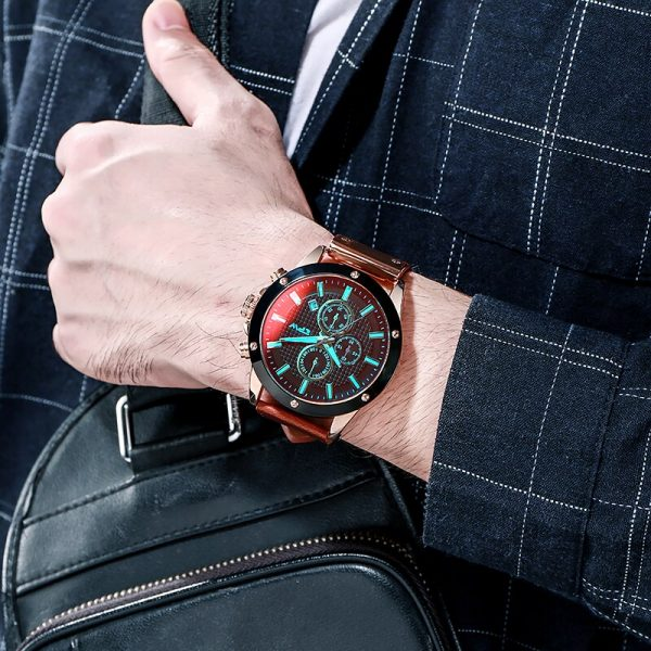 TPW Chronograph Sport Mens Watches Leather Strap Relogio Masculino Luxury Wristwatch