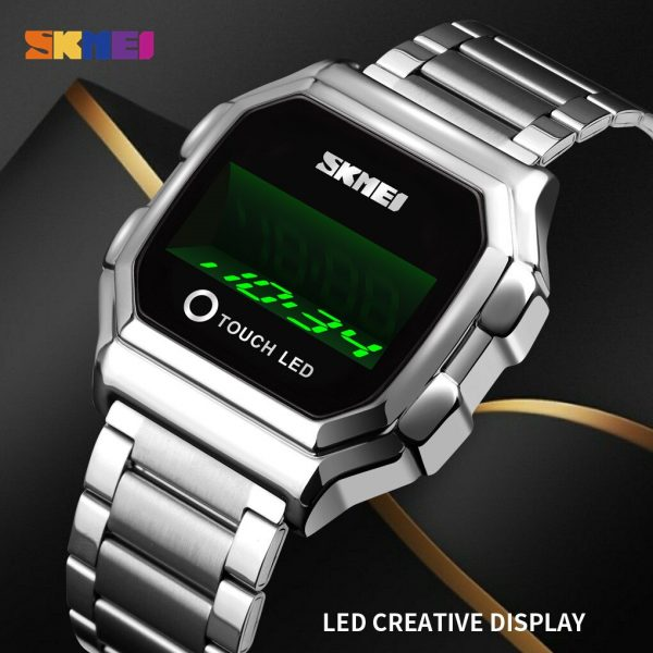 SKMEI Top Brand Creative Touch Screen LED Display Men's watches Waterproof Male electronic Wrist Watch Relojes Para hombre 1650