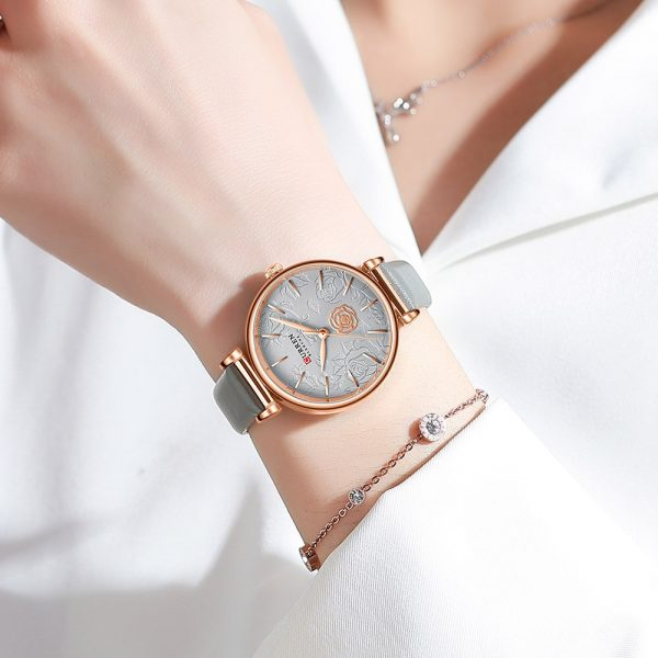 CURREN Top Brand Fashion Casual Women Watches Leather Quartz Female Wristwatch Ladies Gifts Clock Relogio Feminino 9078