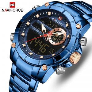 NAVIFORCE Men's Watches Top Brand Army Military Waterproof Sport Watch Men LED Quartz Digital Wrist Watch Male Relogio Masculino